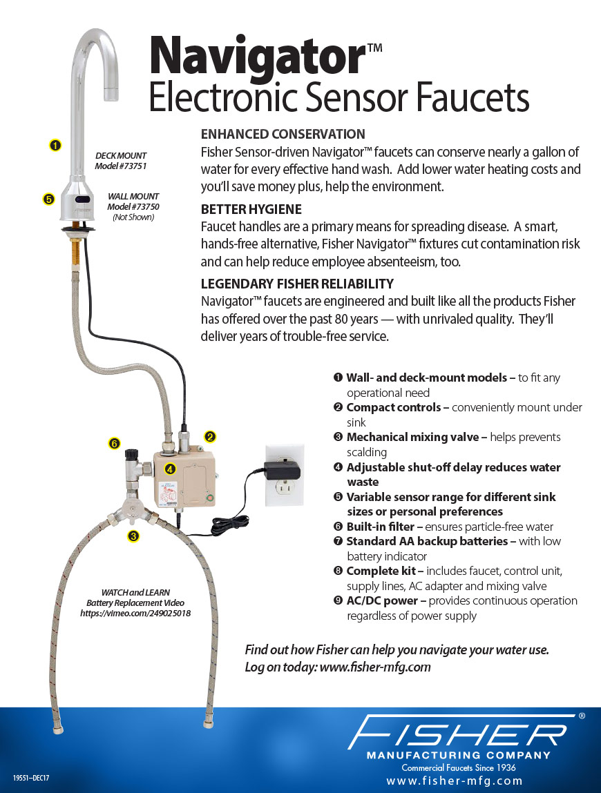 Navigator Sensor Faucets Features